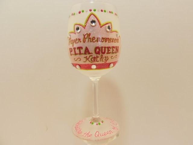 queen's crown wine glass