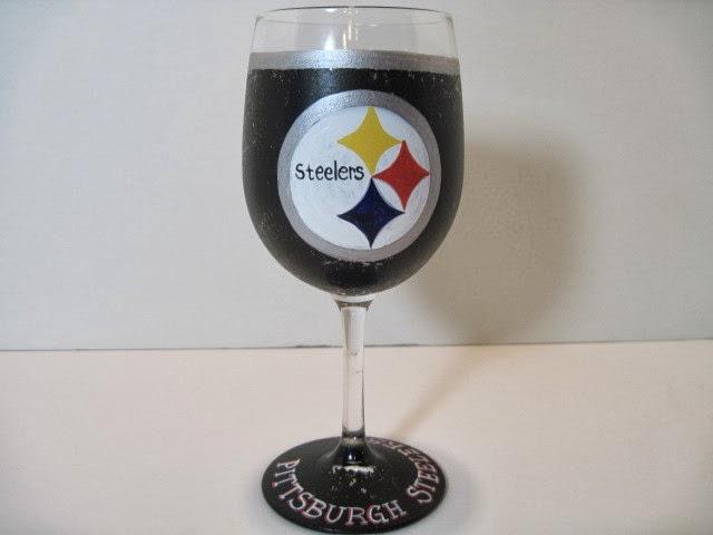 Steelers wine glass