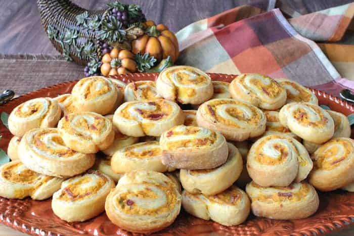 Pumpkin Crescent Pinwheel Appetizers