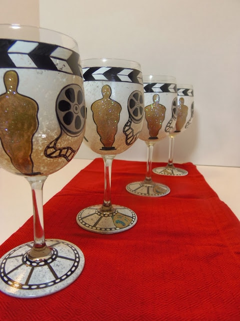 Academy Awards Inspired wine glasses