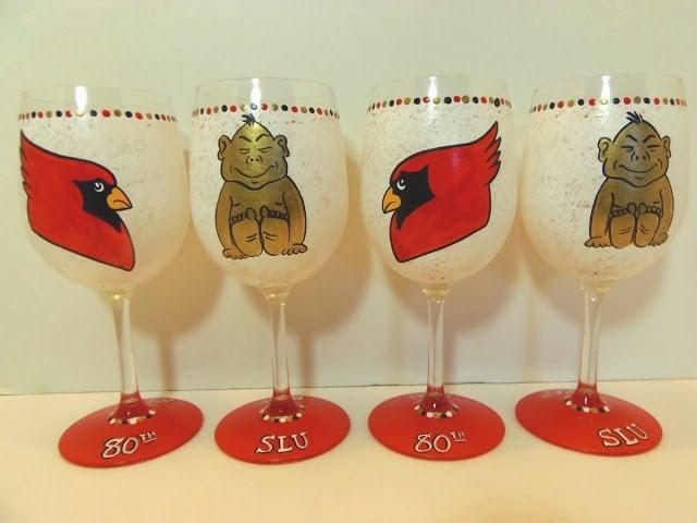 SLU Billikin wine glass
