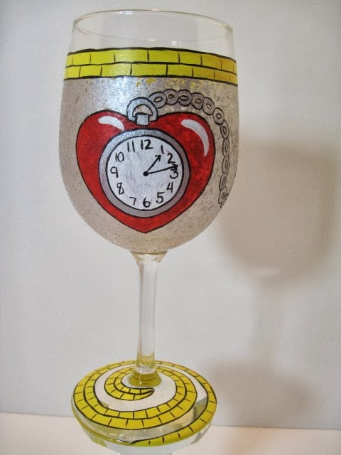 tin man wine glass