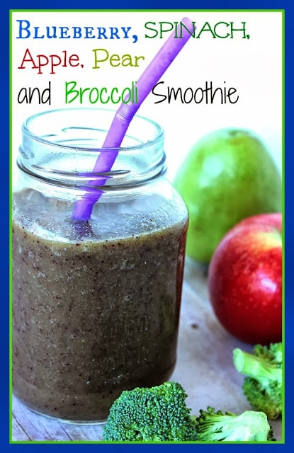 Blueberry and Broccoli Smoothie Recipe
