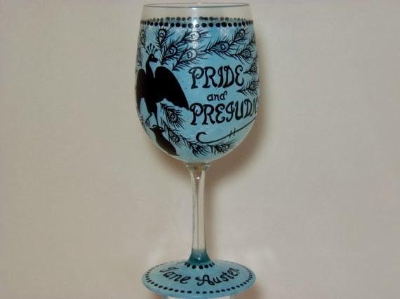 pride and prejudice wine glass