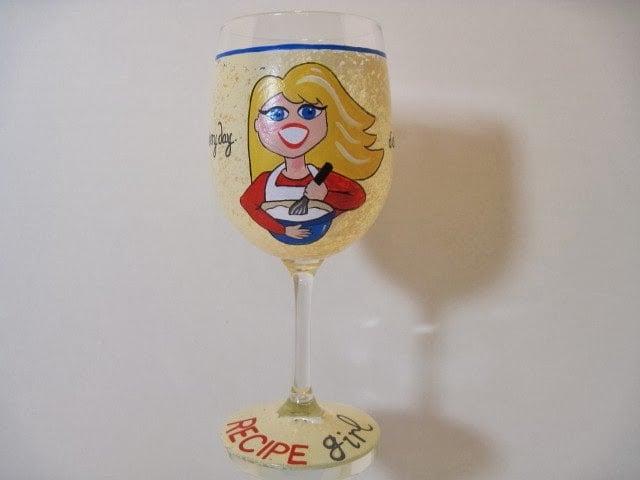 Recipe Girl wine glass