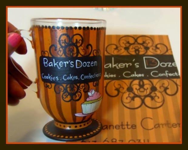 painted logo coffee mug