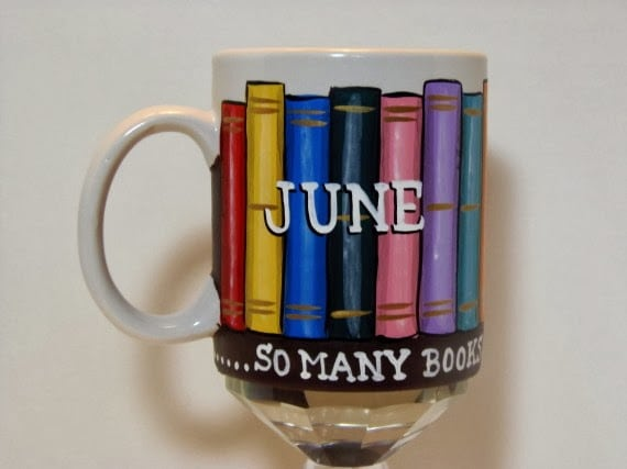 Cookbook Lovers Painted Coffee Mug
