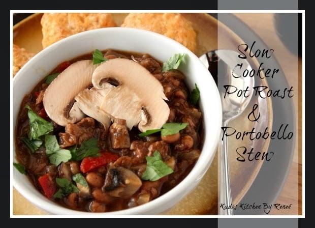 Slow Cooker Pot Roast and Portabello Stew Recipe