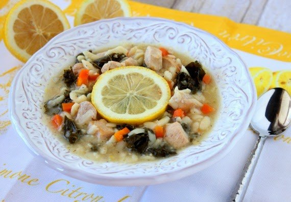 Kudos Kitchen By Renee - Chicken, Lemon and Orzo Soup Recipe