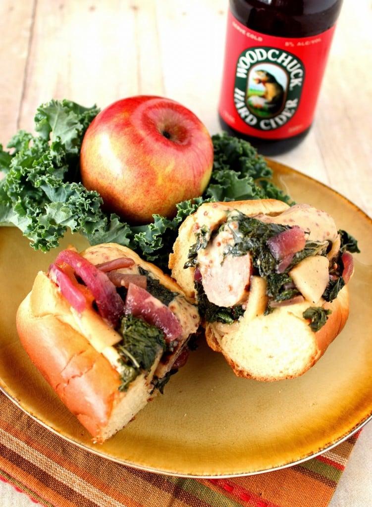 Bratwurst and Apple Kale Kraut Sandwich Recipe