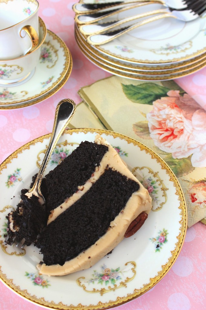 Chocolate Layer Cake with Caramel Frosting Recipe