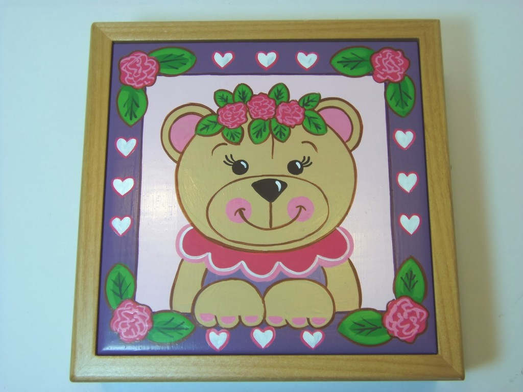 Beary Cute Little Girl Keepsake Box