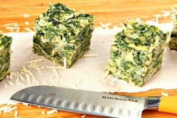 Cheesy Spinach Artichoke Appetizer Squares