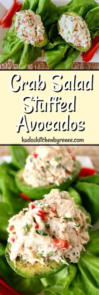 Crab Salad Stuffed Avocado Recipe - www.kudoskitchenbyrenee.com