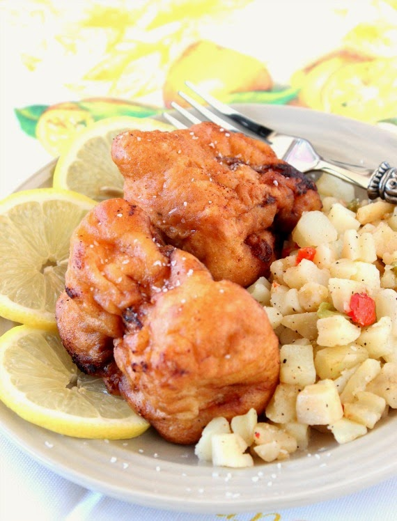 Lemon Lime Battered Fish Recipe via Kudos Kitchen by Renee