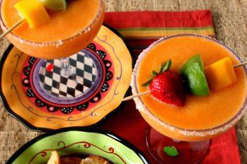 Frozen Mango Strawberry Margaritas for Cinco de Mayo