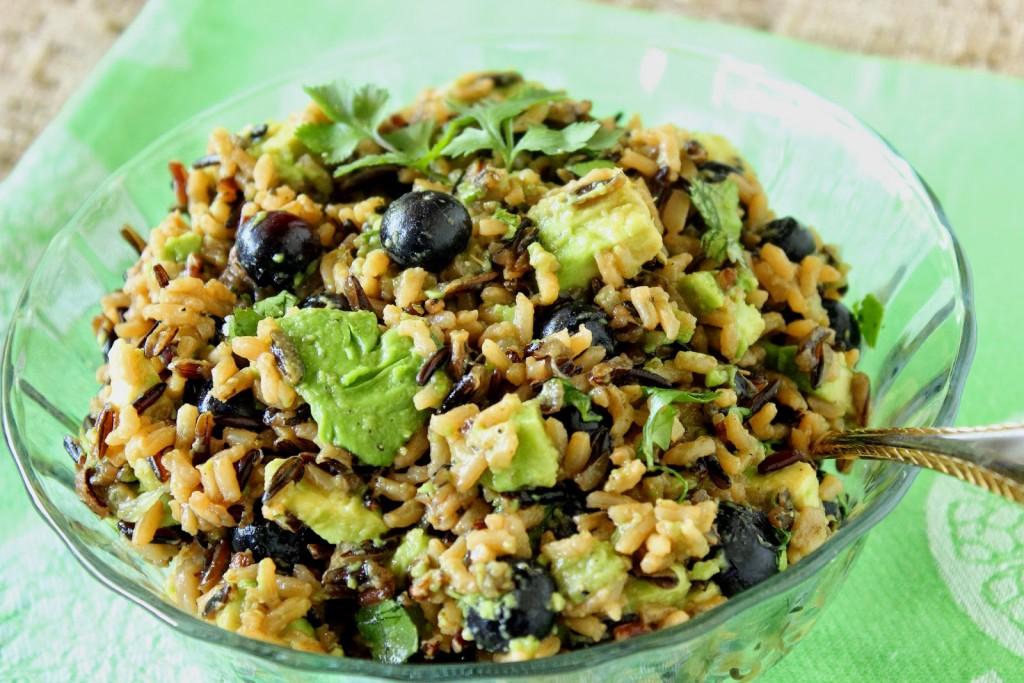 Avocado, Blueberry and Wild Rice Recipe via Kudos Kitchen by Renee