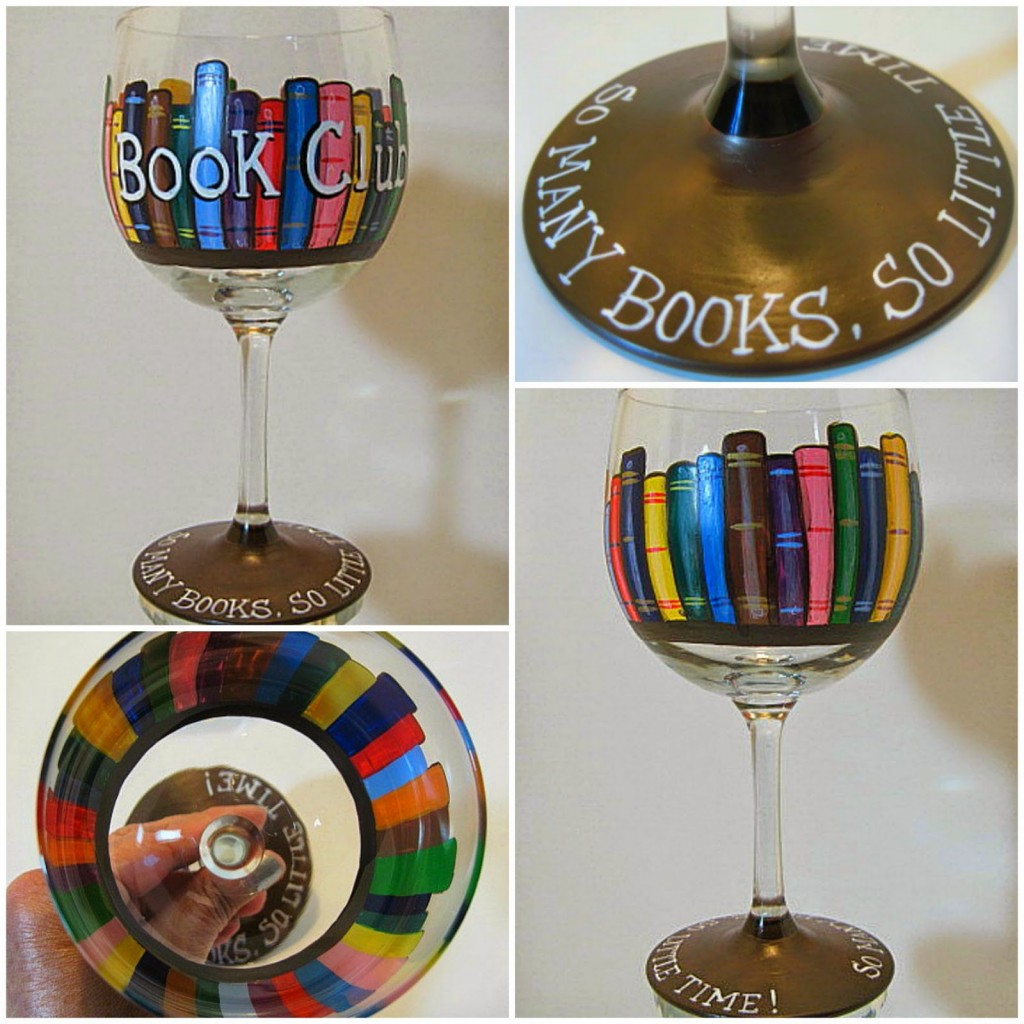 Book Lovers Painted Wine Glass - kudoskitchenbyrenee.com