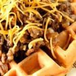 Sloppy Joe's Over Cornbread Waffles - kudoskitchenbyrenee.com