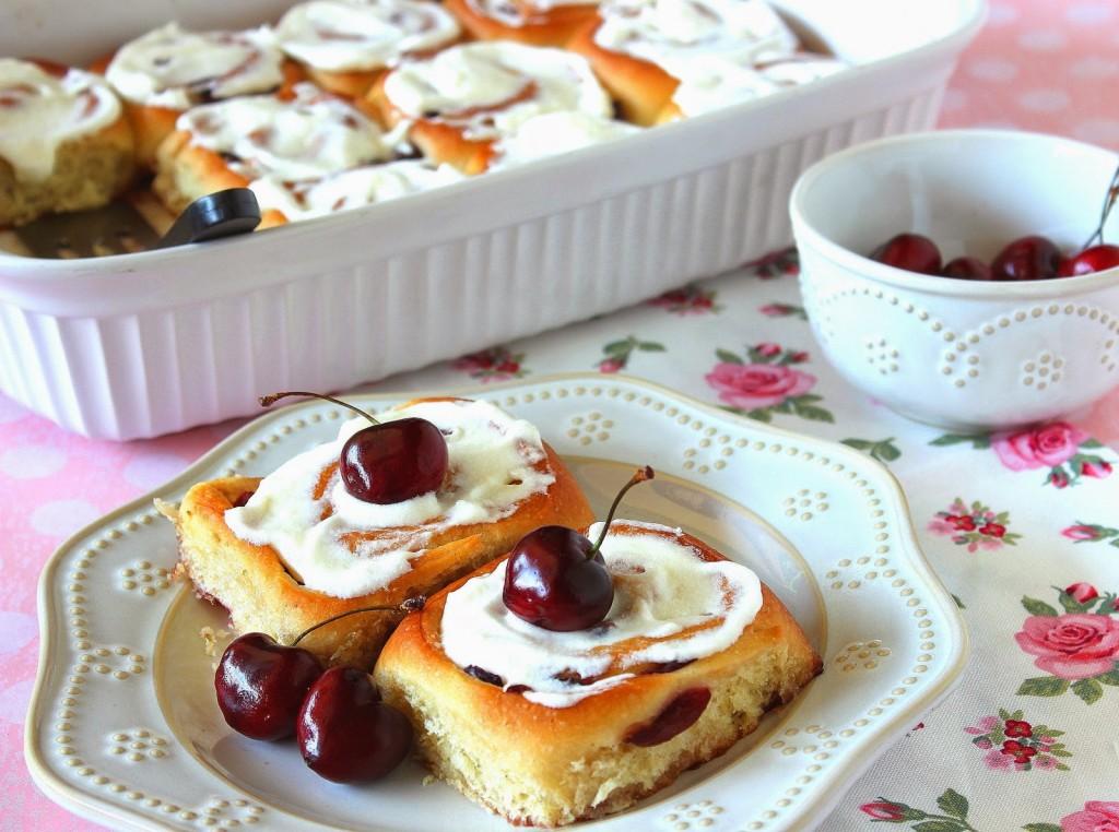 Sweet Cherry Rolls Recipe - www.kudoskitchenbyrenee.com