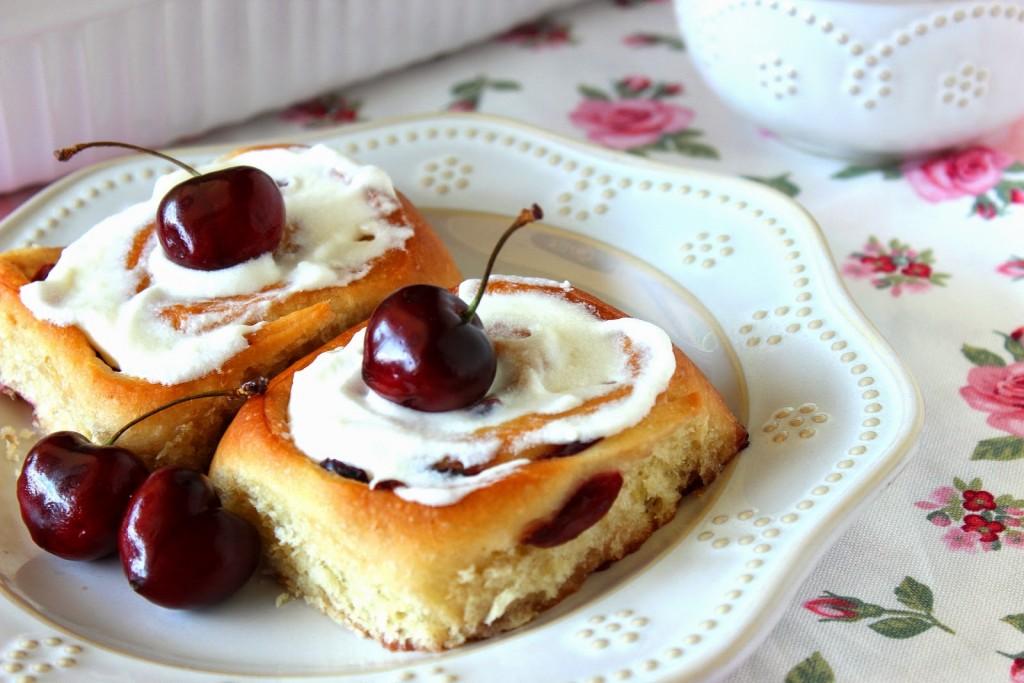 Sweet Cherry Rolls Recipe - kudoskitchenbyrenee.com