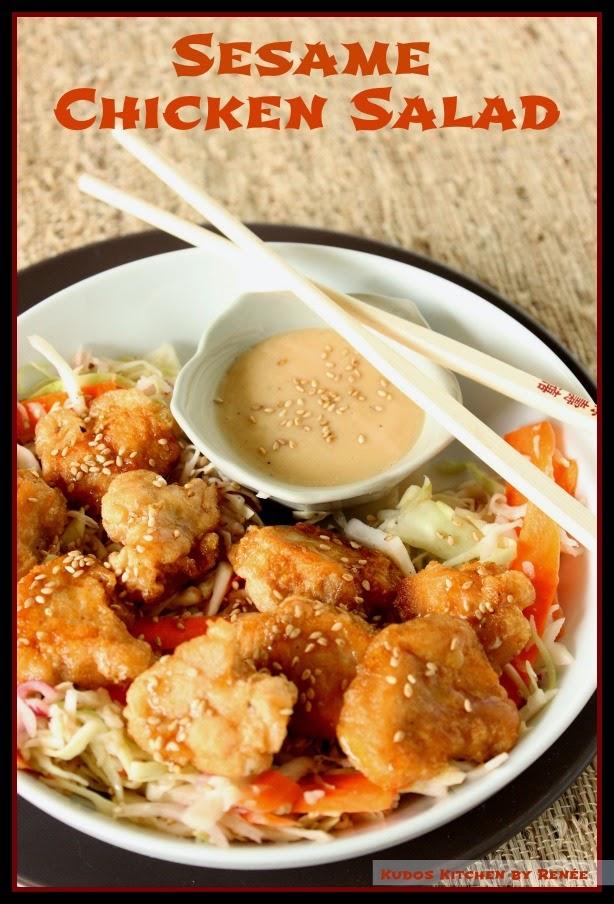 Sesame Chicken Salad Recipe via kudoskitchenbyrenee.com