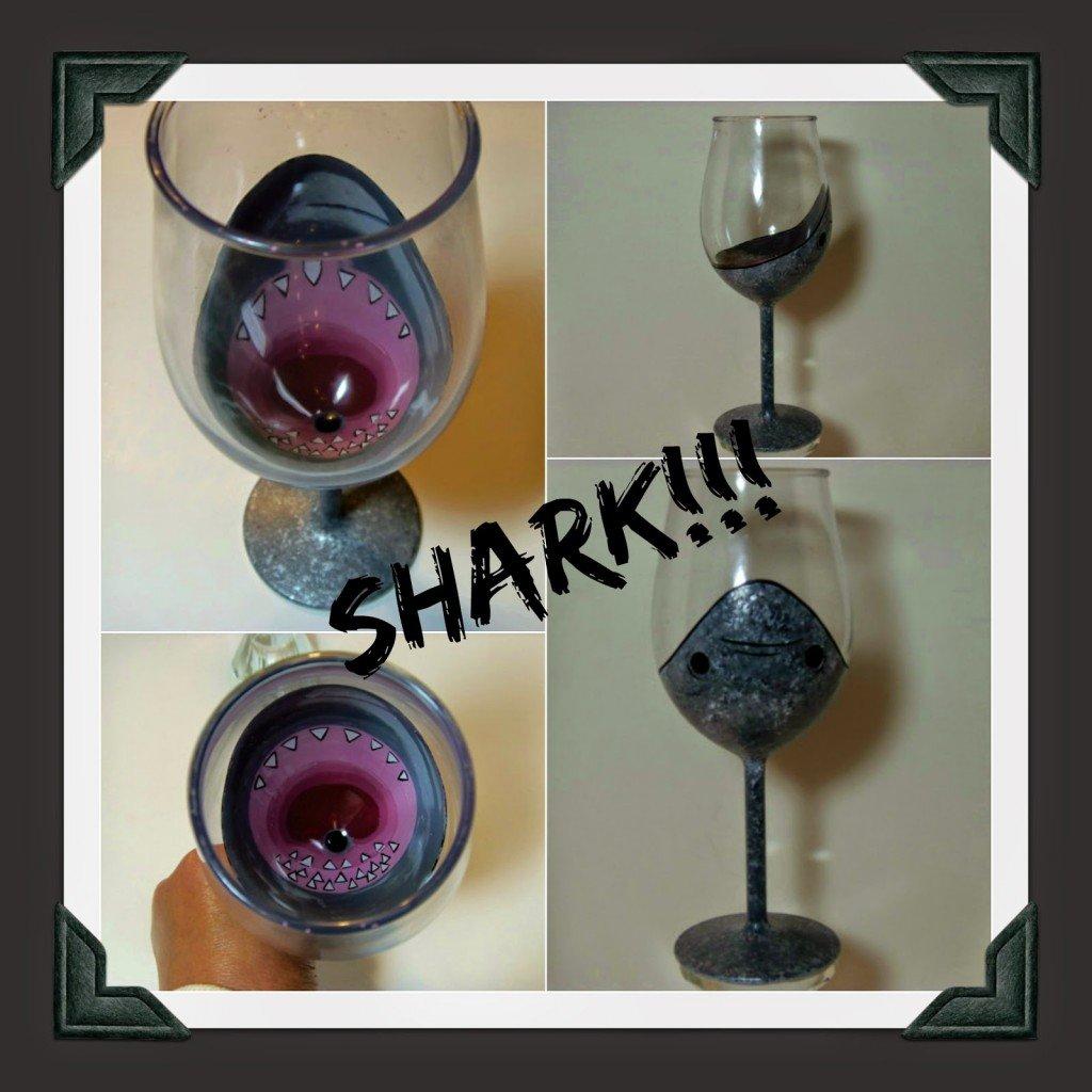 Shark Attach wine glass via kudoskitchenbyrenee.com