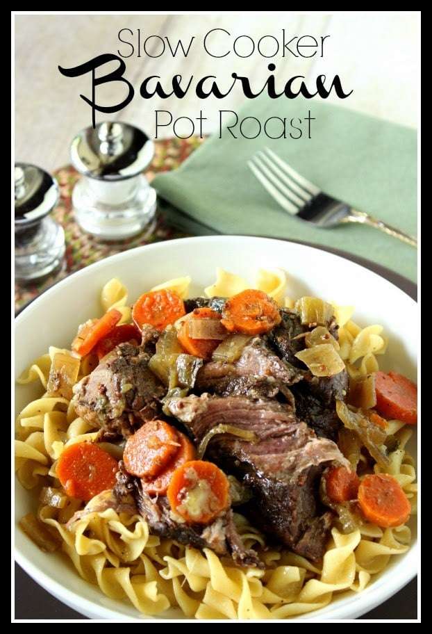 Slow Cooker Bavarian Pot Roast via kudoskitchenbyrenee.com