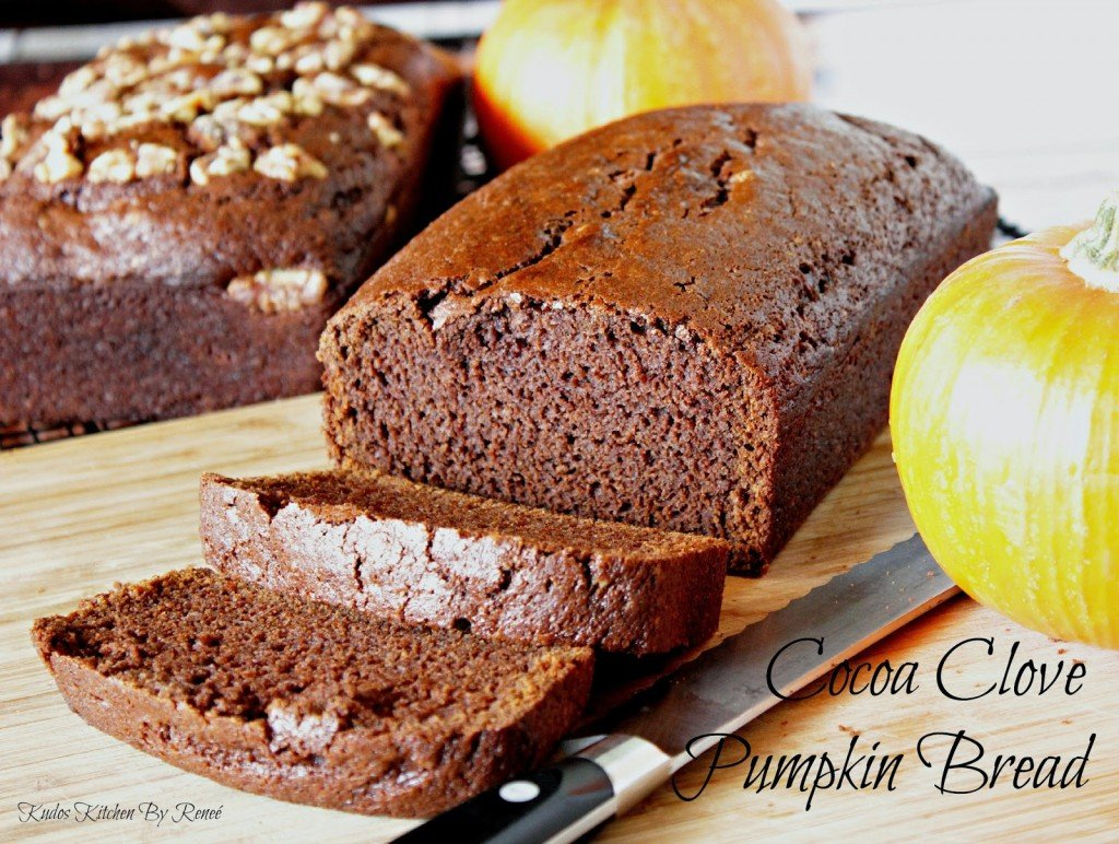 Cocoa Clove Pumpkin Bread / Kudos Kitchen by Renee