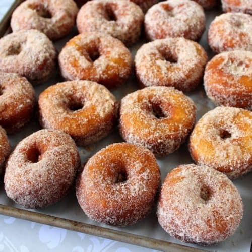 Mashed Sweet Potato Donuts with Cinnamon & Sugar - kudoskitchenbyrenee.com