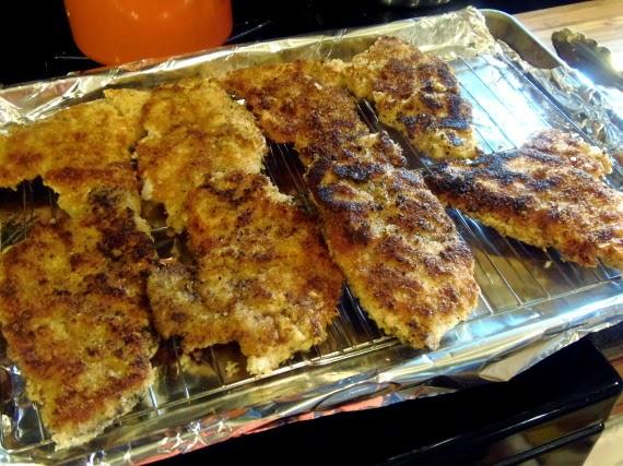 How to make pork schnitzel for a schnitzel melt sandwich.