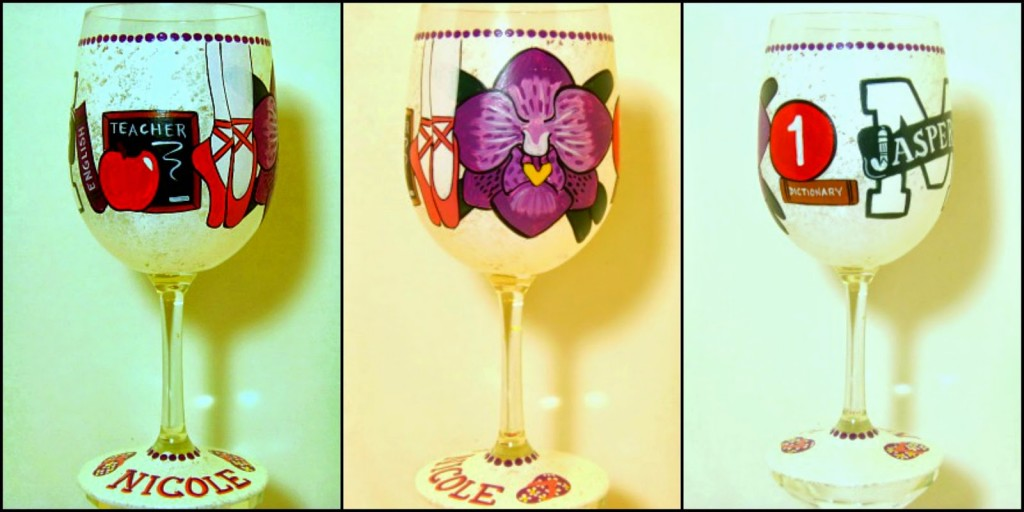 This Is Your Life Custom Painted Wine Glass