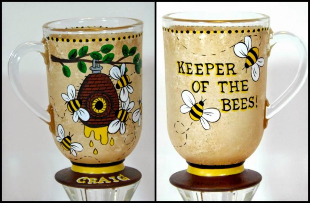 Keeper of the Bees custom painted coffee mug - kudoskitchenbyrenee.com