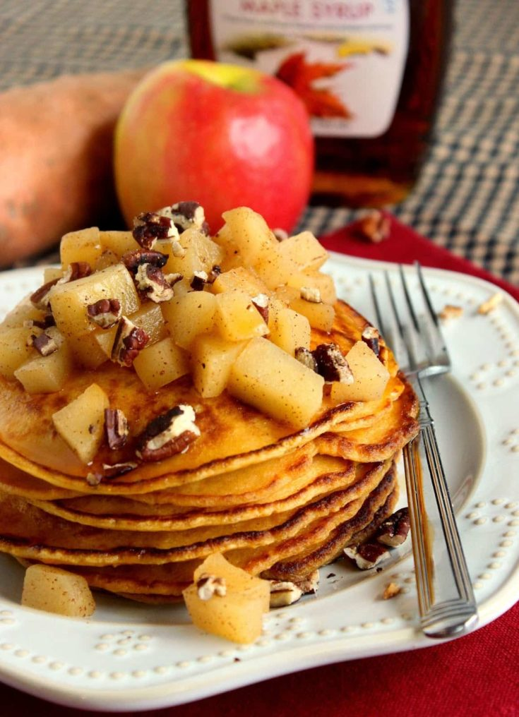 Sweet Potato Pancakes with Apples and Pecans