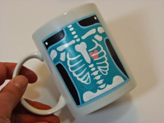 Hand Painted X-Ray Technician Painted Coffee Mug - kudoskitchenbyrenee.com