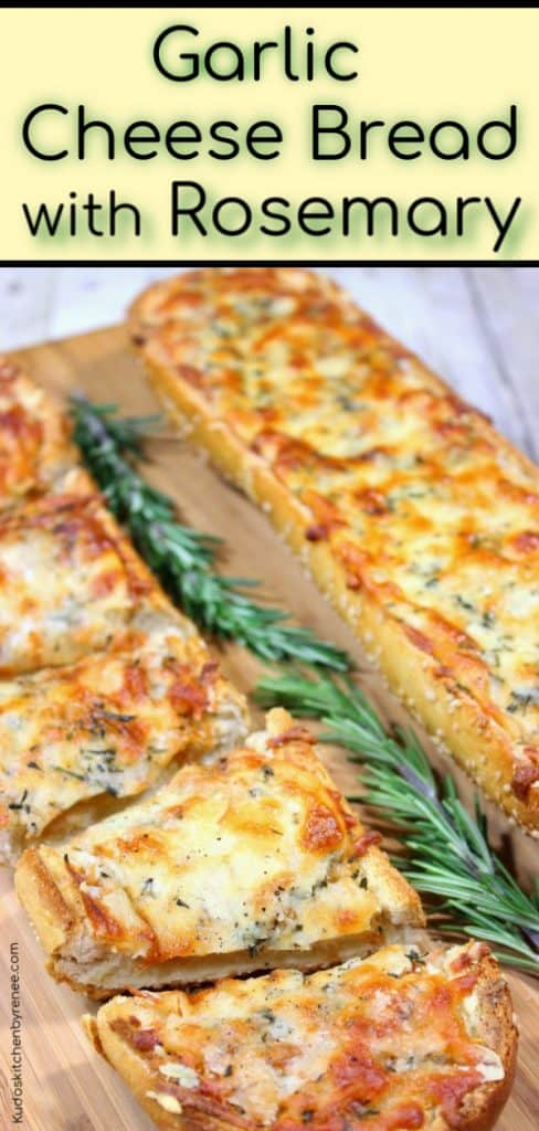 Title Text Image of Garlic Cheese Bread with Rosemary