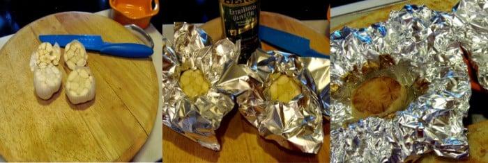 photo tutorial of how to roast garlic