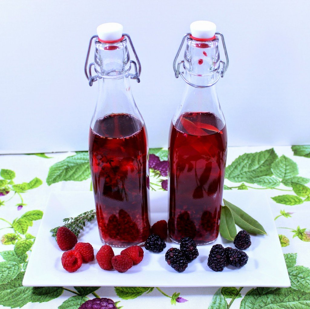 Raspberry Thyme and Blackberry Laurel Vinegar Recipes
