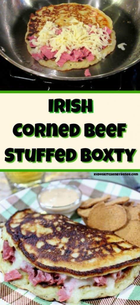 Irish stuffed boxty long title collage image