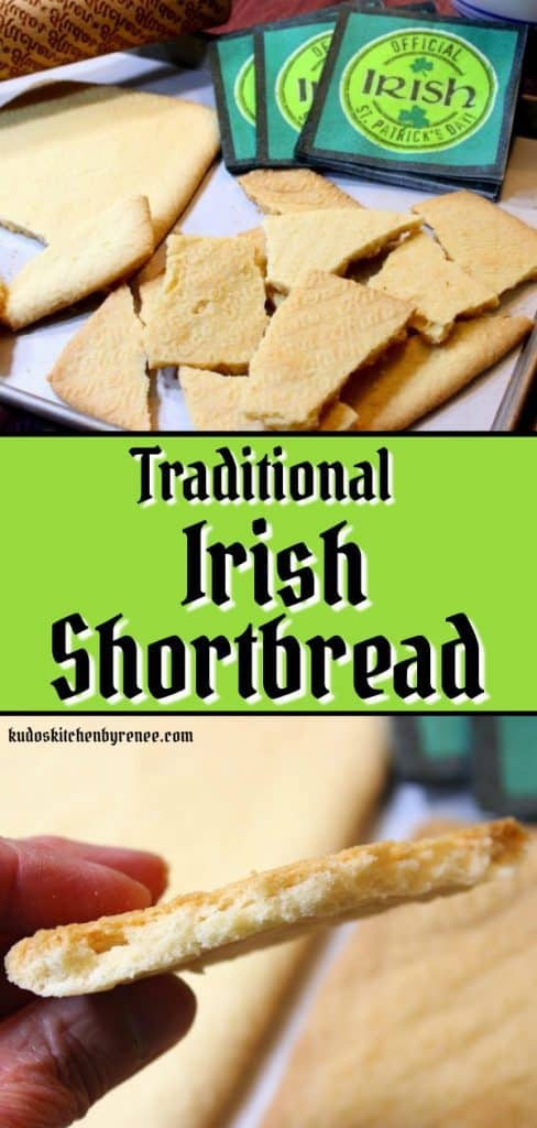 This rolled Traditional Irish Shortbread is rich and buttery. It's simply the best tasting cookie that requires only three basic ingredients. This must be your lucky day!
