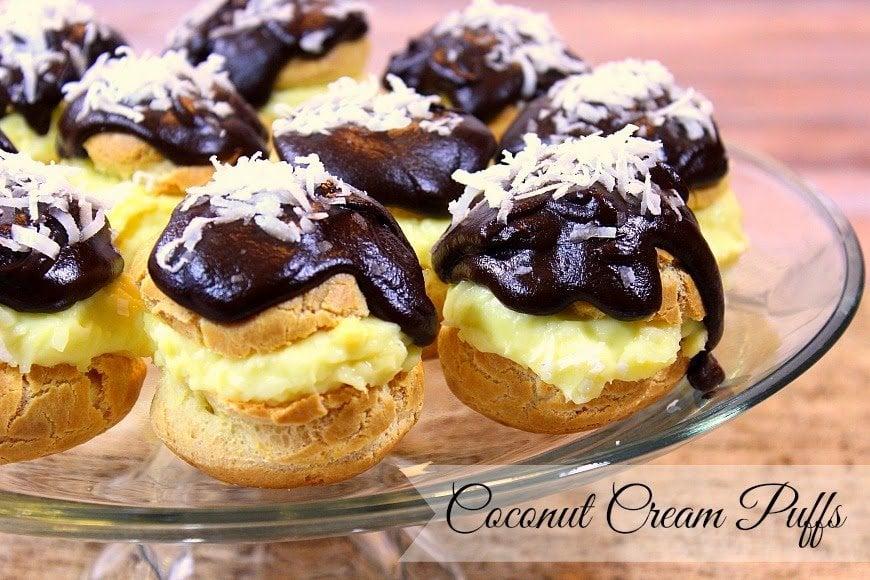 Coconut Cream Puffs