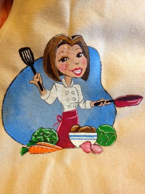 Kudos Kitchen by Renee Hand Painted Logo Apron