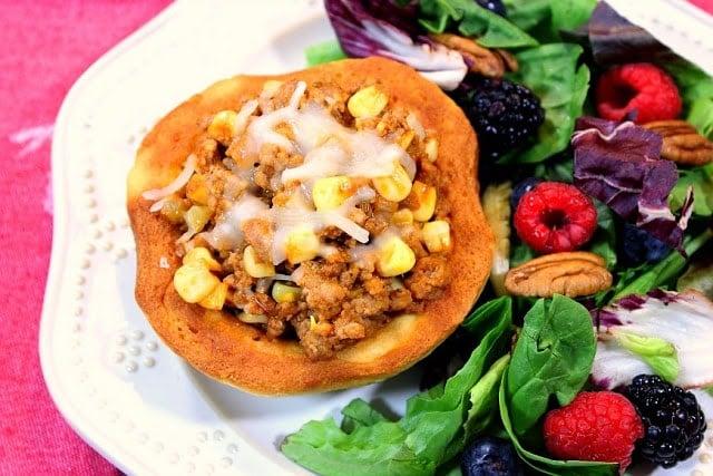 BBQ Turkey In Corrn Muffin Bowls