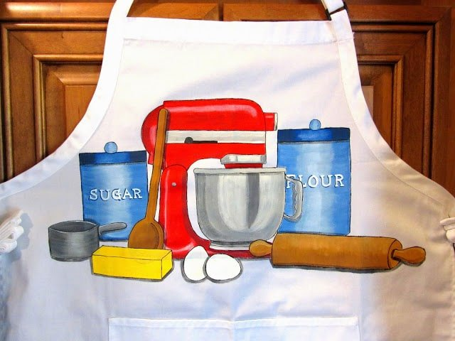 Hand Painted Bakers Apron