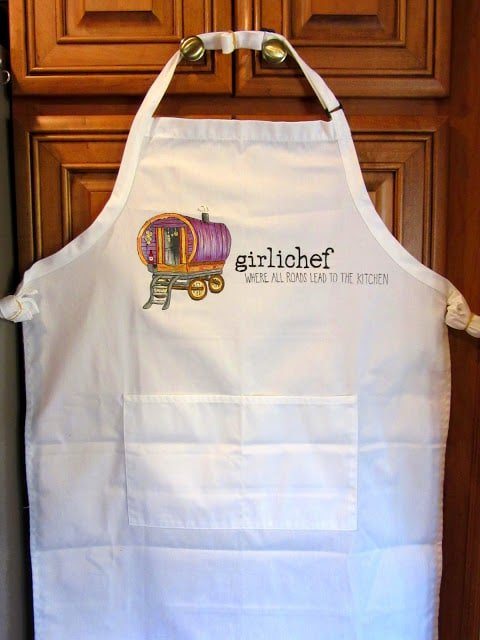 Hand Painted Food Blogger Apron