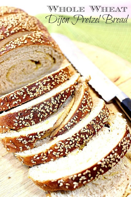 This Deliciously Flavorful Whole Wheat Dijon Pretzel Bread is everything you love about soft, hot pretzels, but without the twist, and perfect for sandwiches. - kudoskitchenbyrenee.com
