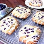 Blueberry Cheese Danish Recipe with Homemade Pastry - kudoskitchenbyrenee.com