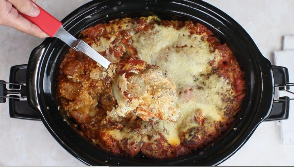Slow Cooker Meatball Lasagna - kudoskitchenbyrenee.com