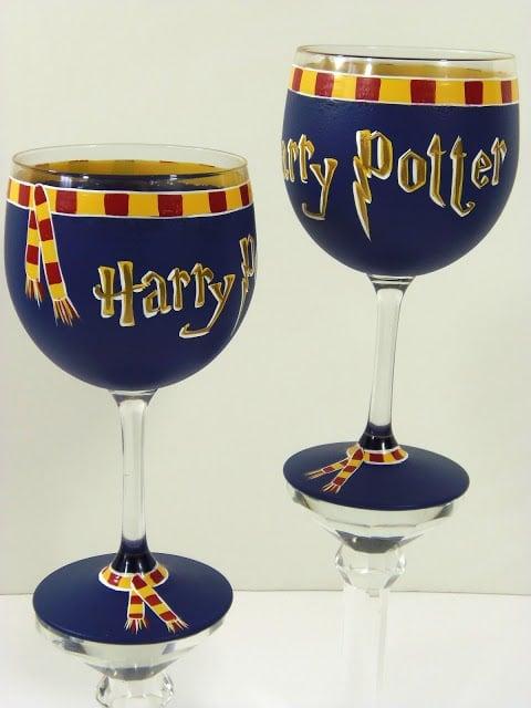 Harry Potter Inspired Wine Goblets