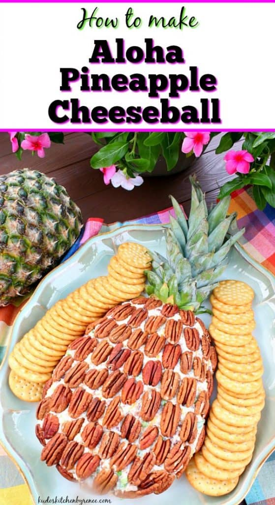 Aloha Pineapple Cheese ball vertical title text image
